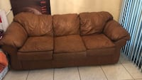 Brown leather  3-seat sofa Gainesville, 32608