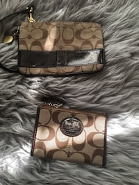 brown and black Coach monogram wristlet Calgary, T2H