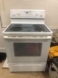 white and black induction range oven Miami, 33175