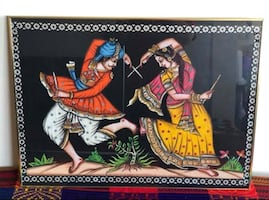 Dandia Garba Cloth Picture Framed