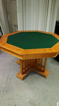 Poker table with leather cover 4ft across