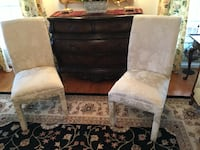 White fabric covered accent or dining room chair Frederick