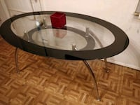 Nice dining table with glass shelf, pet free smoke Annandale, 22003