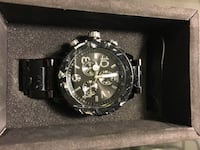 $425 Nixon 42-20 Chrono watch. Black | silver | multi material. Great condition! Carlsbad, 92009