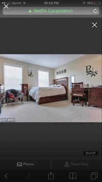 brown wooden bed frame with white mattress Hagerstown, 21742