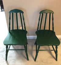 Two green wooden windsor chairs Arlington, 22201
