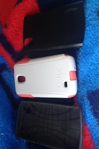 three smartphone rear cases