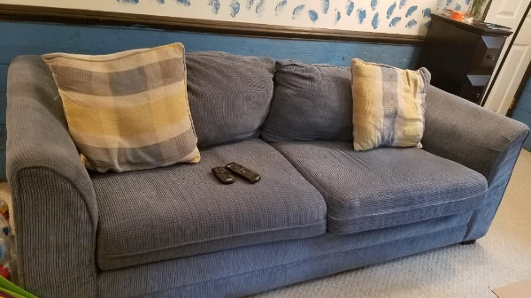 Used blue fabric 2 seat queen size sofa bed for sale in - Used queen bedroom sets for sale ...