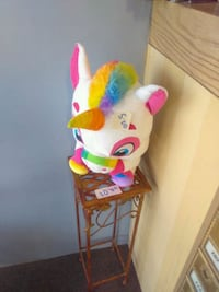white and pink unicorn plush toy Los Angeles, 90046