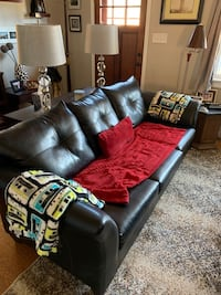 Used Tan Suede Couch Great Condition In Picture 2 It