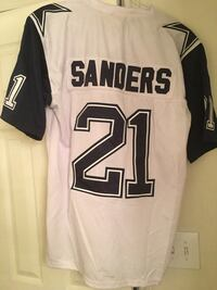 White and black sanders 21 jersey top Houston, 77090