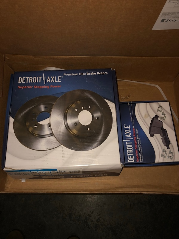 2005 - 2010 Ford Mustang Front Brake Rotors (GT) and Ceramic Pads