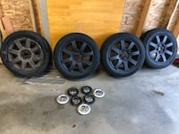 Continental winter tires on factory VW rims  null, V9P 1X3