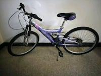 purple and black full-suspension bike Newark, 07107