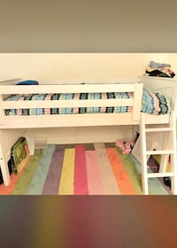 White wooden loft bed Los Angeles, 90042