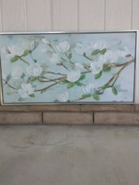 Flower Blossom painting. Handpainted signed Bakersfield, 93301