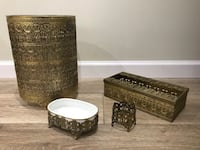 Beautiful gold metal bathroom set Vienna, 22182