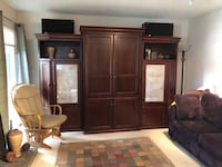 Wood entertainment center with lots of storage Alameda, 94501