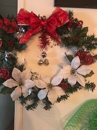 white and red flower arrangement Mission, 78572