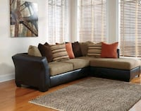 New Beige and Dark Brown Sectional Couch  336 mi