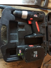 Black and red cordless power drill Winnipeg, R2W 2K6