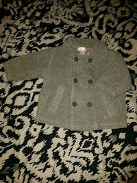 12 mos grey button up peacoat  Rock Island, 61201