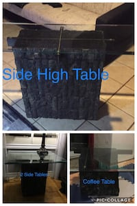 Set of Stone & Glass Tables Mississauga, L5L 2P3