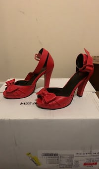 Hot Red TUK shoes. Size 8 US