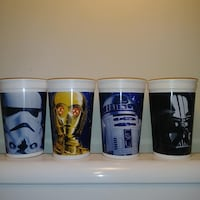 UNUSED: 1996 The star wars trilogy special edition plastic cups × 4  new old stock Edmonton