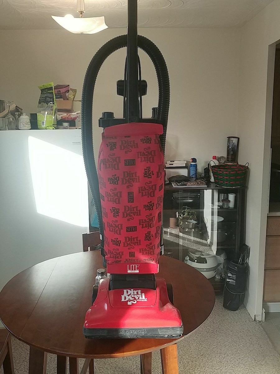 red and black Dirt Devil upright vacuum cleaner for sale  Cobourg