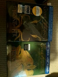 two Game of Thrones blu ray sets