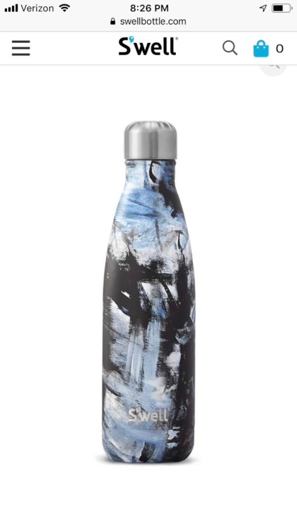 SWELL 17oz water bottle with abstract print
