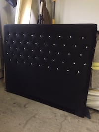 Black bed headboard  queen size