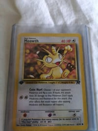 1st edition meowth pokemon card Ajax