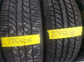 Winter tire with installation