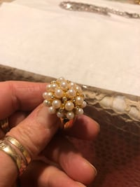 gold-colored ring with clear gemstones Calgary, T2A 0C4