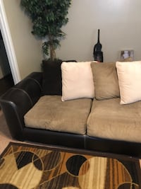 Brown cream and tan Sectional  Lubbock