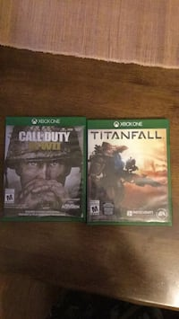 2 Xbox one games.  COD WW2 and TITANFALL 3715 km
