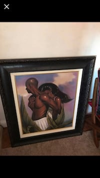brown wooden framed painting of woman Philadelphia, 19151