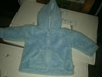 toddlers blå zip-up hoodie Estocolmo, 164 72