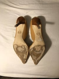 pair of brown leather pointed-toe heeled shoes Silver Spring, 20906
