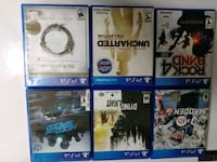 six assorted PS4 game cases North Las Vegas, 89030