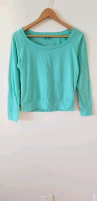 Garage teal green lace back top small