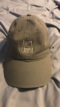 brown happy camper-printed baseball cap Cameron Park, 95682
