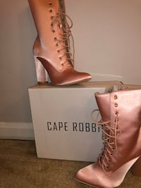 Cape Robbin satin pink boots Centreville, 20120