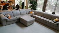 gray fabric sectional sofa with throw pillows Springfield