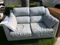 Grey leather loveseat Huntington Beach, 92649