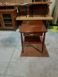 brown wooden single-drawer end table Brampton, L6X