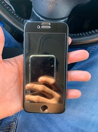 Silver iphone 6 with black case 20 mi
