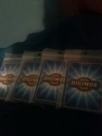 4 Digimon Card Packages